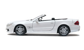 White car cabriolet Stock Photos