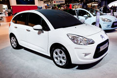 White car Citroen C3 Stock Photo