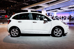 White car Citroen C3 Royalty Free Stock Photography