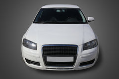 White car the front view Royalty Free Stock Photo