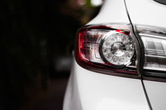 White Car Headlight Turned Off Royalty Free Stock Image