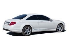White car isolated. Modern white car isolated on white background Royalty Free Stock Photos