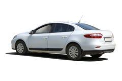 White car isolated Stock Image