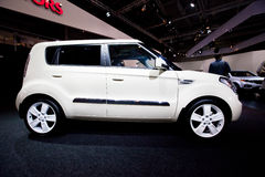 White car Kia Soul Royalty Free Stock Photos