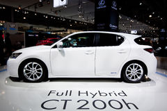 White  car Lexus CT 200 H Stock Photo