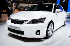 White  car Lexus CT 200 H Stock Image