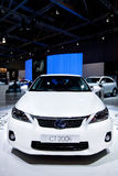 White  car Lexus CT 200 H Stock Photos