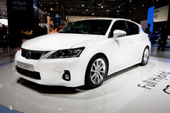 White  car Lexus CT 200 H Stock Photography