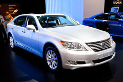 White  car Lexus LS 460 L AWD Stock Images