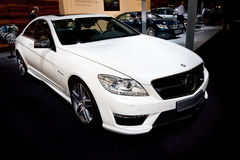 White car Mersedes CL 63 Stock Photos