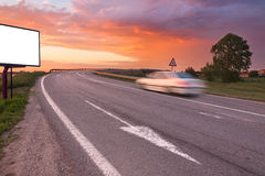 White car in motion blur on the street Stock Images