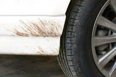 White car mud splash Stock Photography
