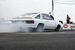 White drag car Stock Photo