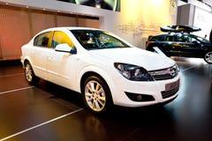 White car Opel Astra Stock Photo
