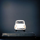 White car over dark background Royalty Free Stock Photography