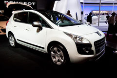 White car Peugeot 3008 Royalty Free Stock Images
