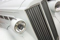 White Car Radiator. White Old Car Chrome Radiator Stock Images