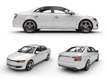 White car ready to be branded. White 3d car ready to be branded vector illustration