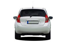 White car rear view Royalty Free Stock Images