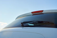 The white car rear wipers Royalty Free Stock Photography