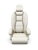 White car seat  on white background. 3d rendering Stock Photography