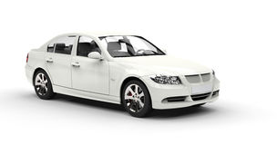 White Car - Showroom Shot. Image shot in ultra high resolution Royalty Free Stock Photo