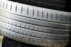 White car tires Stock Image
