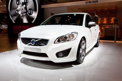White car Volvo c30 Royalty Free Stock Photography