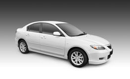 White Car w/ Clipping Path. White car. Vector path included to easily crop out car from background Stock Image