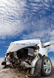 White car was demolished Royalty Free Stock Photos