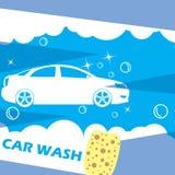 White car wash needles on a dark blue Royalty Free Stock Photo