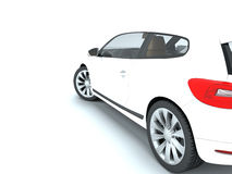White car on a white background Royalty Free Stock Images