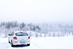 Winter Car Stock Photo