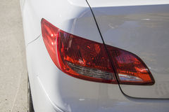 White car xenon back light Royalty Free Stock Photos