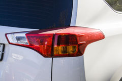 White car xenon back light Royalty Free Stock Photography