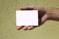 White card Royalty Free Stock Photos