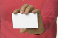 White card Royalty Free Stock Photography