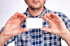 White card Stock Image