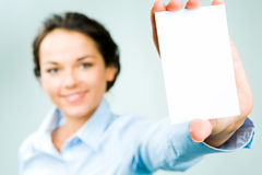 White card Stock Image
