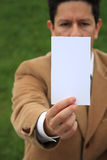 White card Stock Photo