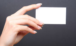 White card Royalty Free Stock Photo