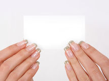 White card royalty free stock images