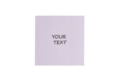 White card. On a white background Royalty Free Stock Images