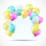 White card with balloons Stock Photo