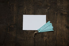 white card with blue tag love Royalty Free Stock Photo