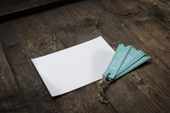 white card with blue tag love Stock Photography