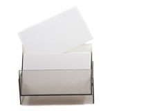 White card on a box (space for text) Royalty Free Stock Photo