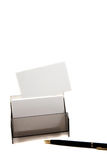 White card on a box (space for text) Royalty Free Stock Photos