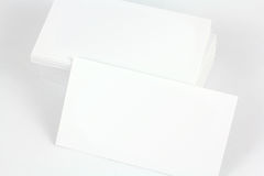 White_card. White business card with emrty place fot text stock images