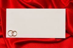 White card for congratulation Stock Photography